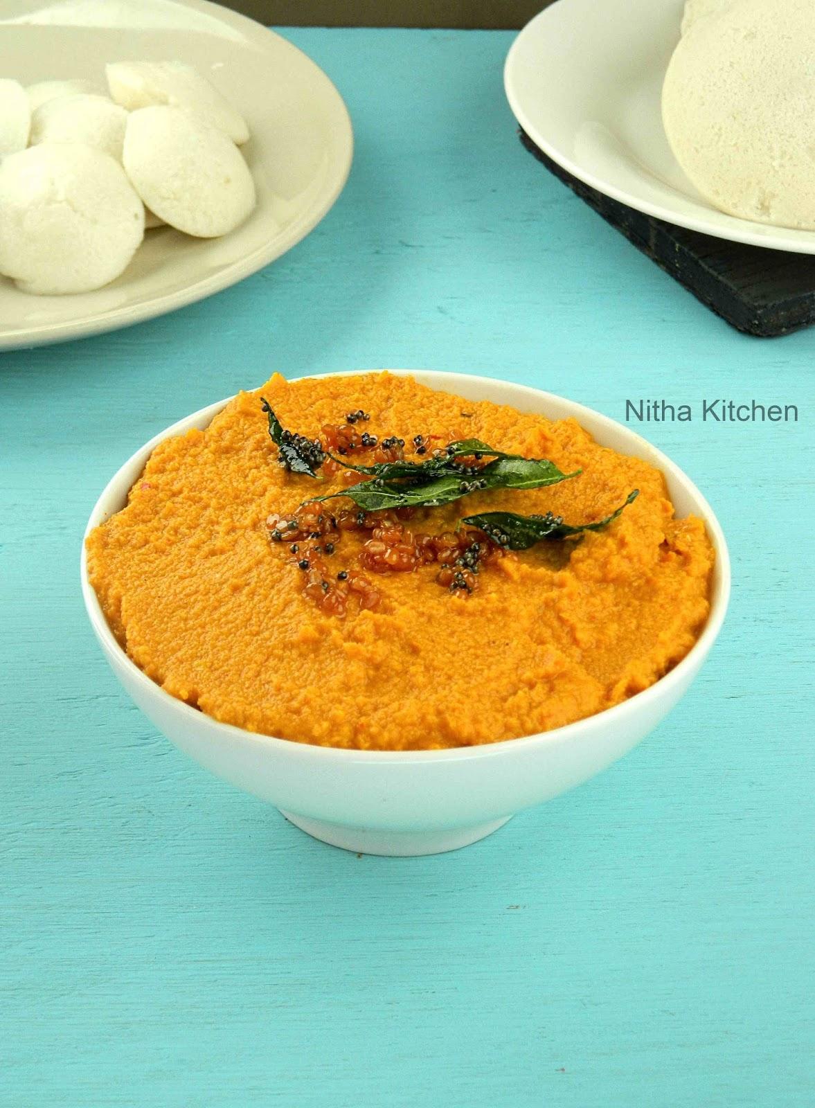 Easy Carrot Tomato Chutney - Nitha Kitchen