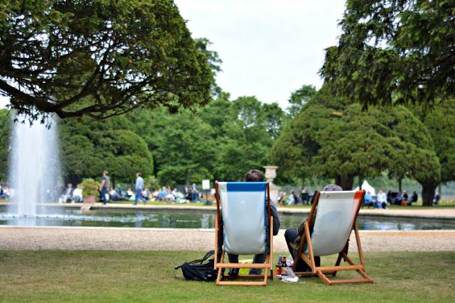 Hampton Court Palace Festival gardens