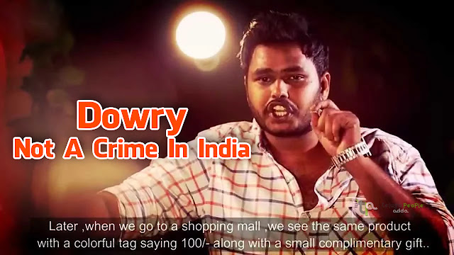 Dowry Not A Crime In India | Sriharsha Manda | Must Watch Video | inspiring Video