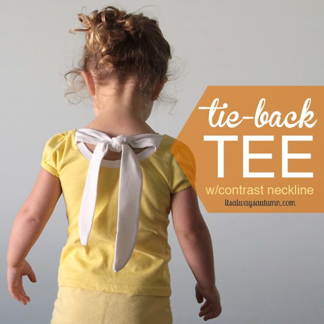 tie back tshirt sewing tutorial