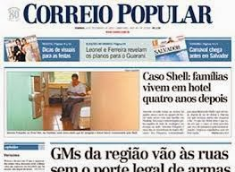 """Cores"" no jornal Correio Popular de Campinas - SP"