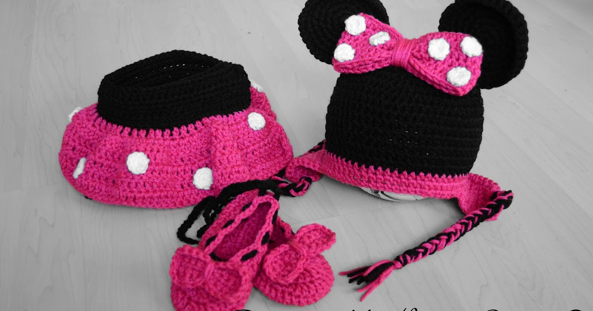 Free Crochet Pattern Minnie Mouse Diaper Cover : Paper, Needles n Sweets : Mickey and Minnie Mouse Crochet