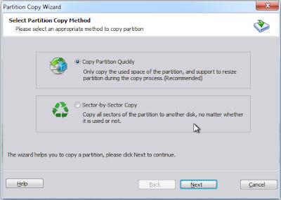 AOMEI Partition Assistant Standard 5.2 Free - Parition Copy Wizard