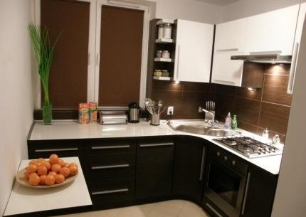 Hermosas fotos de cocinas peque as colores en casa for Cocinas en esquina