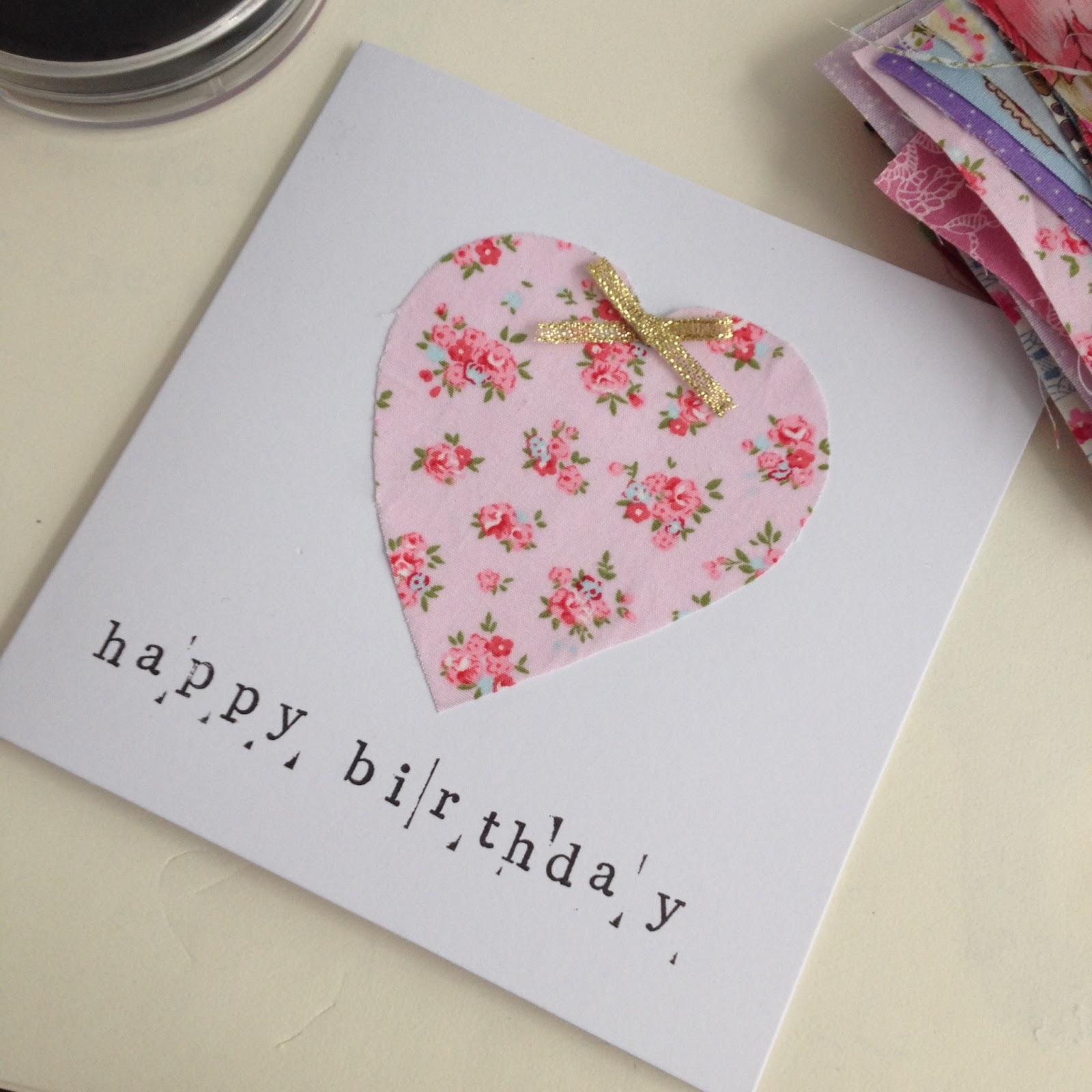 handmade cath kidston birthday card