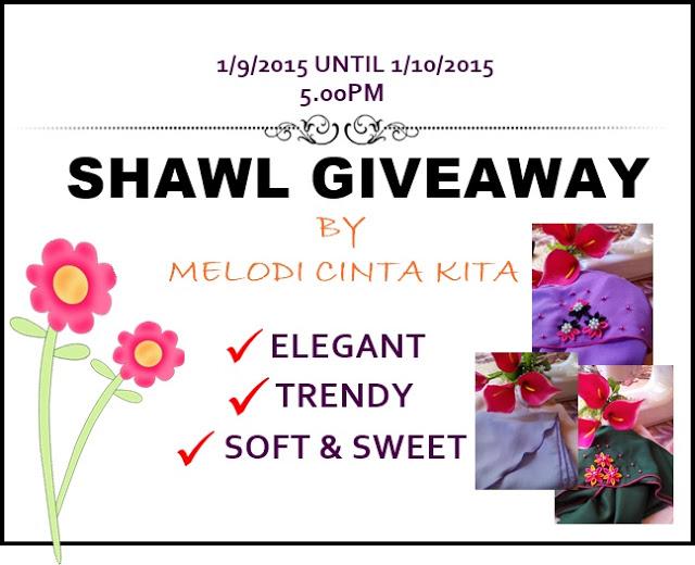 Shawl Giveaway by Melodi Cinta Kita