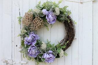 Purple Peony Wreath