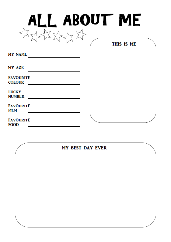 Examples of all about me poster templates - cafenews.info