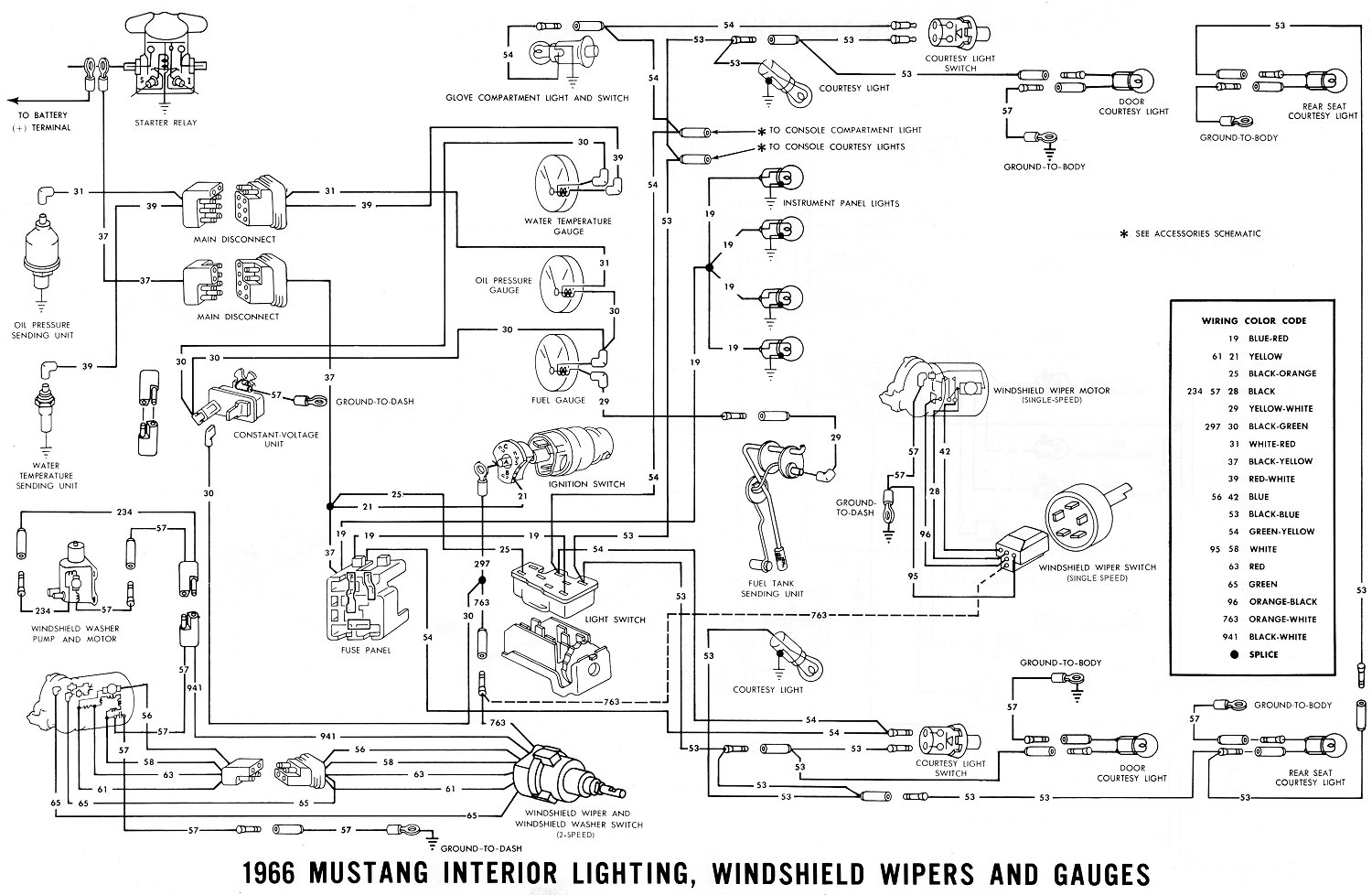lelu s 66 mustang 1966 mustang wiring diagrams interior lighting diagram
