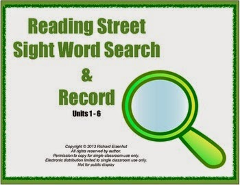 http://www.teacherspayteachers.com/Product/Kindergarten-Scott-Foresman-Reading-Street-Sight-Word-Search-Record-579247