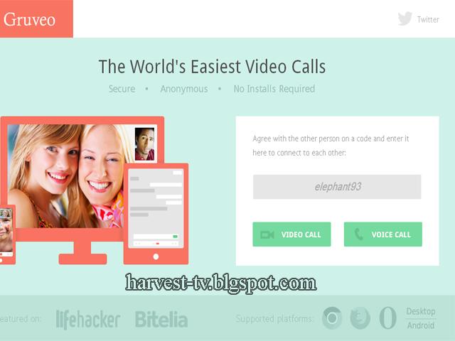 موقع Gruveo لمكالمات الفيديو والصوت المجانية بدون تحميل او تسجيل