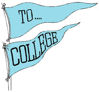 To college flag