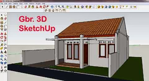 Cara Menggambar Rumah