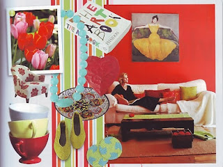 bright colours inspiration board