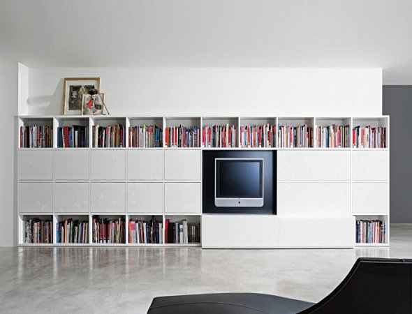 Libreros modernos imagui for Libreros modernos