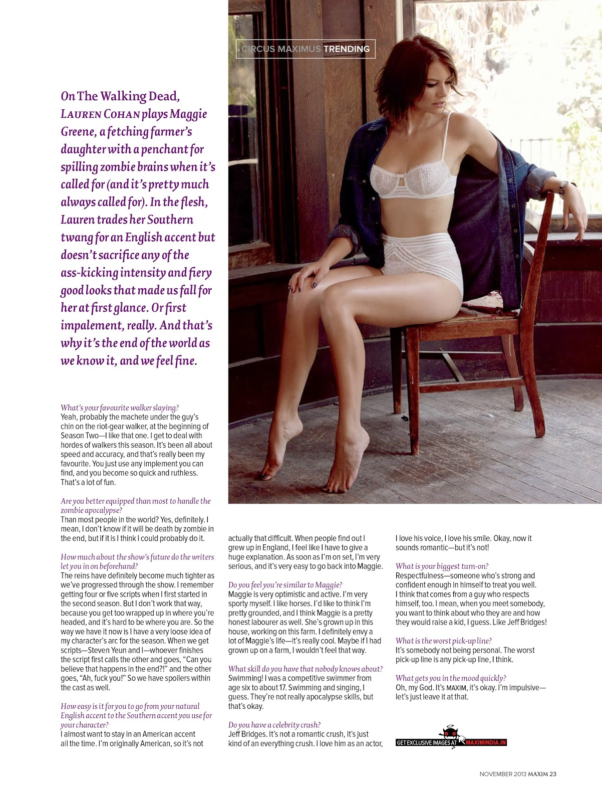 Lauren Cohan - Maxim India November 2013Lauren Cohan Maxim 2013