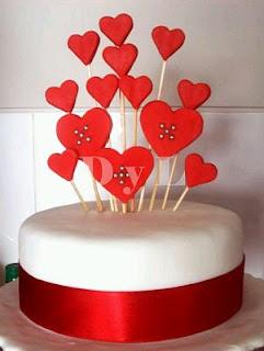 Pasteles y Tortas de San Valentin