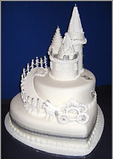 White Chocolate Castle Wedding Cakes