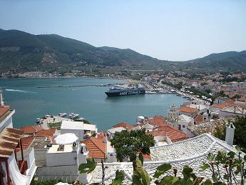 Vistas del puerto de Skópelos - Islas Griegas