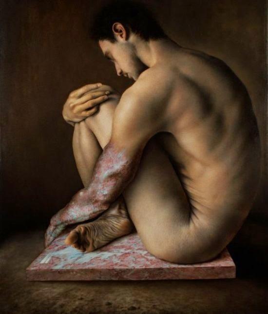 Marco Grassi pinturas hiper-realistas retratos
