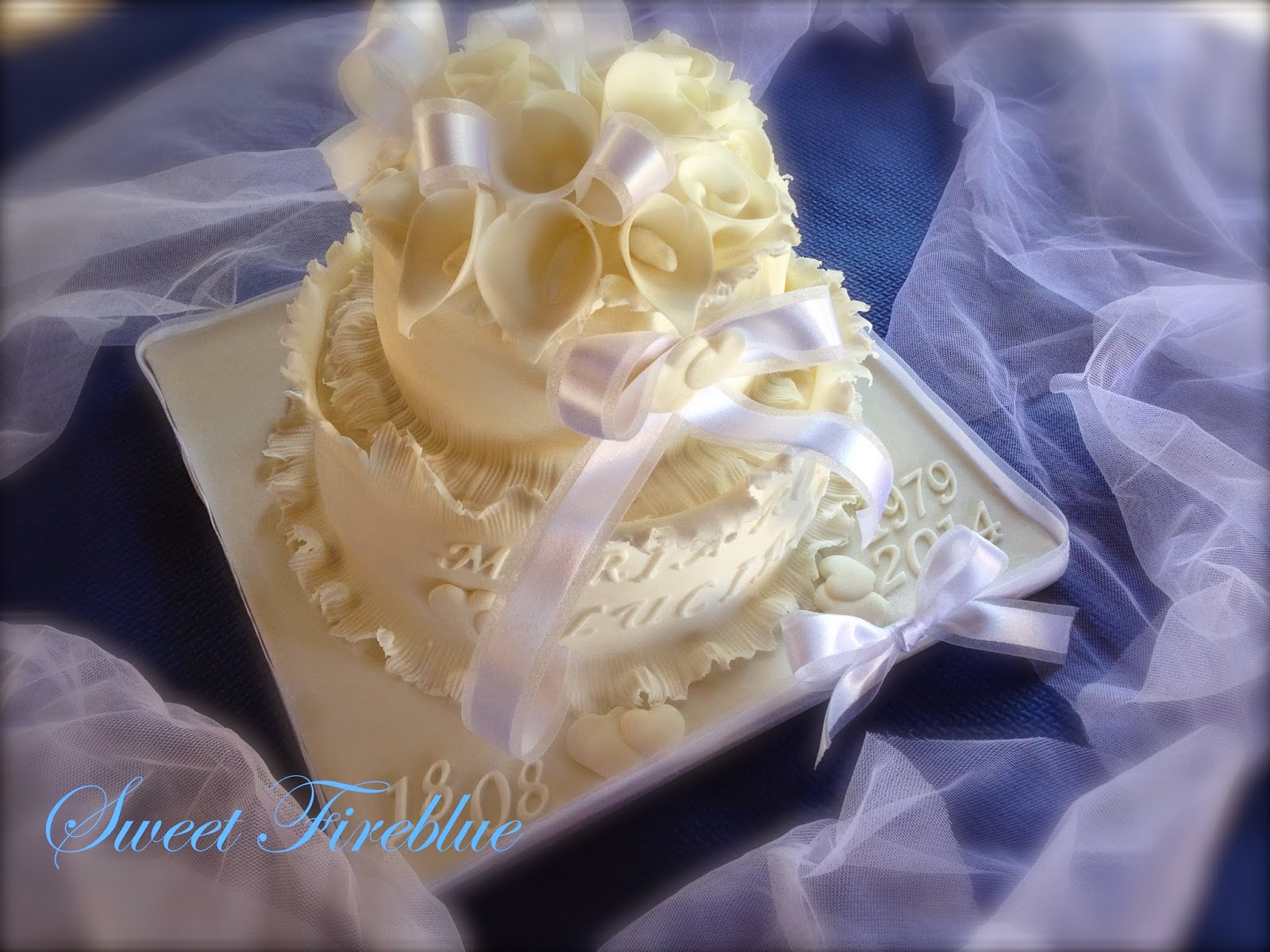 torta 35° anniversario di matrimonio....una torta con la