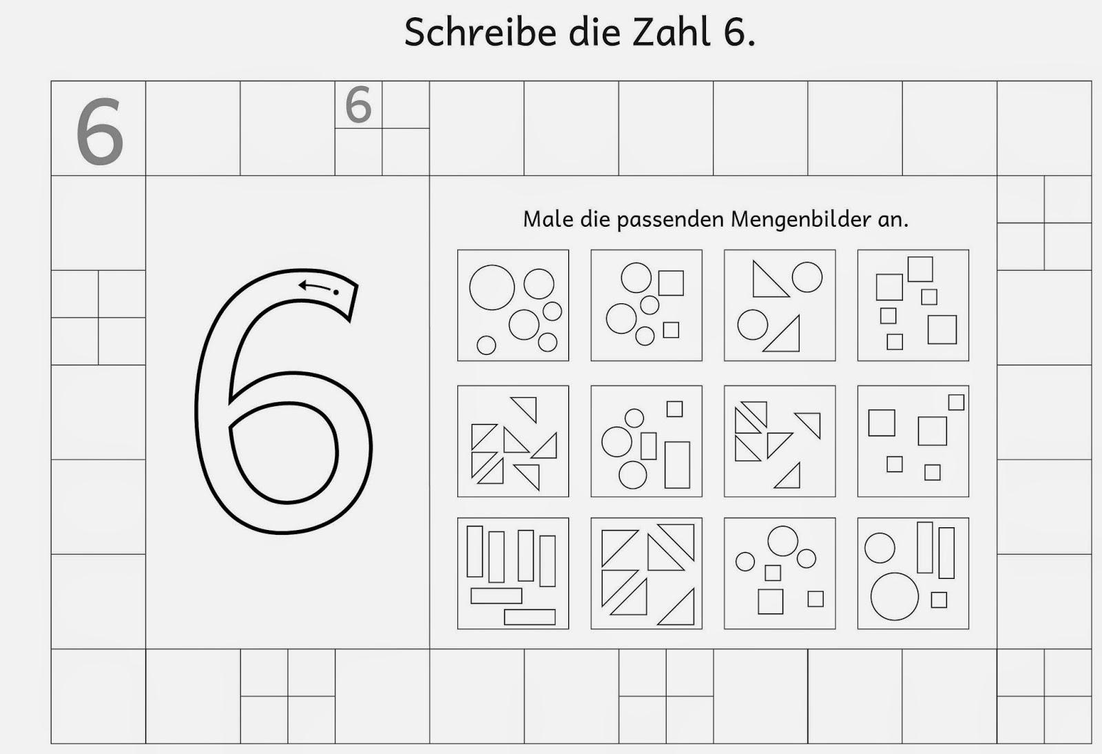 Lernstübchen: Ziffernschreibkurs Arbeitsblätter (7)