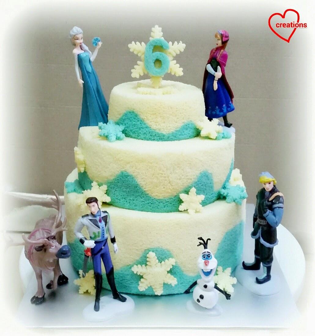 Loving Creations for You: Frozen 3-tier Chiffon Cake