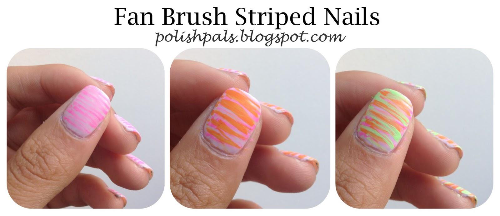 Polish Pals: Fan Brush Striped Nails
