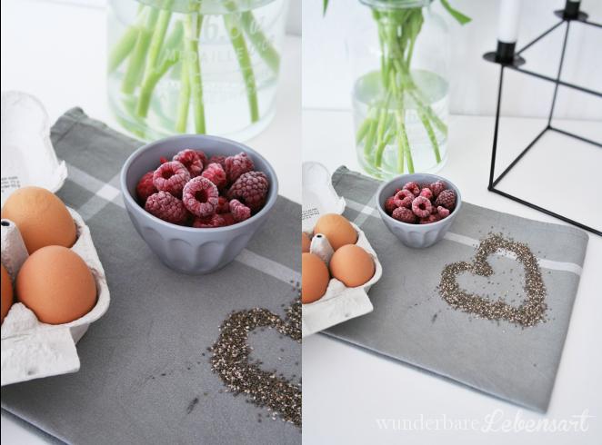 Tulpen und Pomelo-Himbeer-Kuchen mit Chiasamen