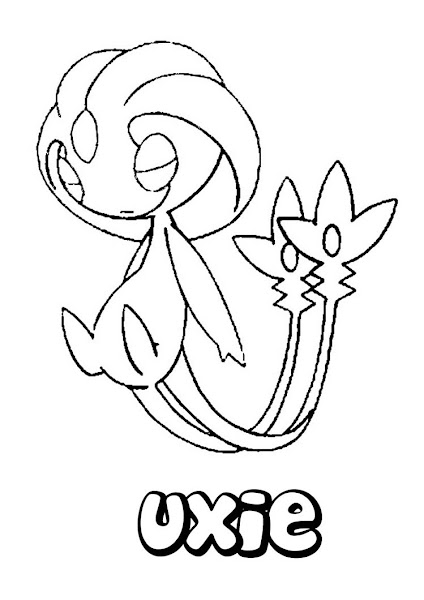 Uxie Pokemon Coloring Pages