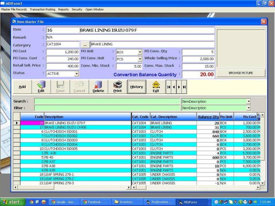Visual basic trading system