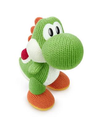 TOYS : JUGUETES - NINTENDO Amiibo  Figura Mega Yoshi de Lana : Mega Yarn Yoshi  Yoshi's Woolly World Collection  Videojuegos - Muñeco | 27 Noviembre 2015  Comprar en Amazon España & Buy Amazon USA