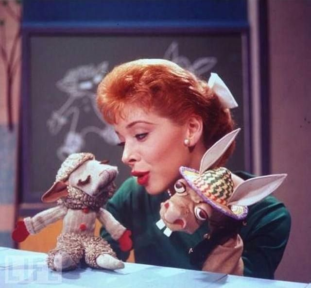 Shari Lewis with Charlie Horse and Lamb Chop