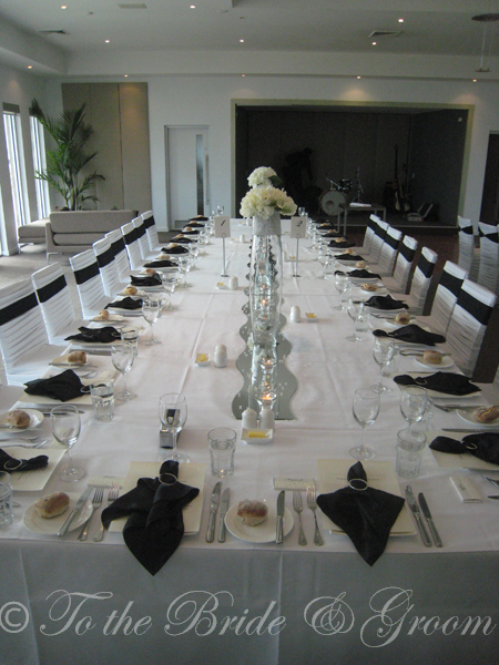 We did the layout the linen the designer chair covers the centrepieces