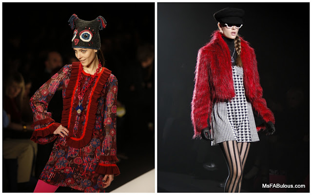 red fur runway