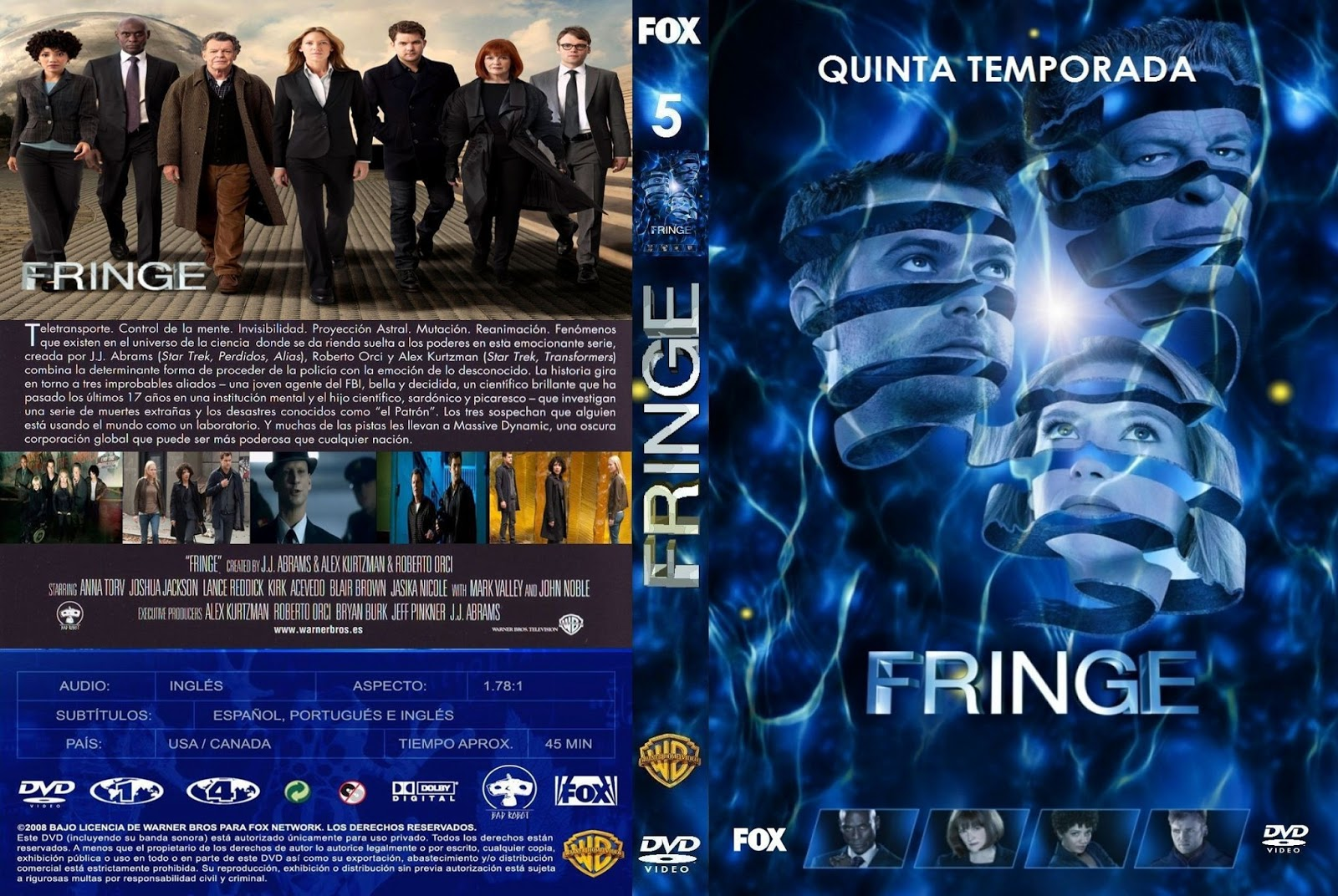 DVD - PS2 - SERIES - PROGRAMAS: Serie - Fringe - Temporada 5 ( 4 DVD ...