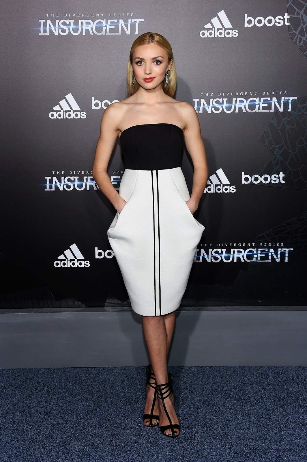 """Actress, Model @ Peyton List look amazing at the """"Insurgent"""" Premiere in New York City"""