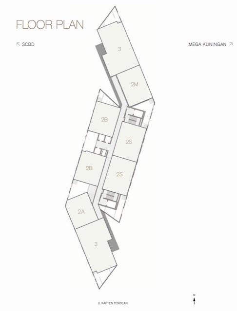 Floor Plan Arzuria Apartment Jakarta Selatan