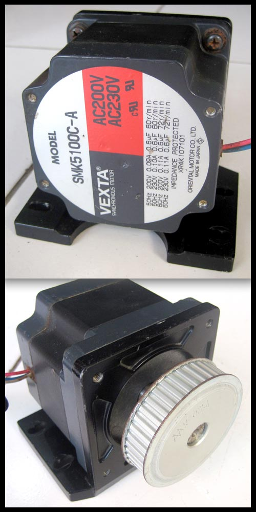 2nd machine low speed synchronous motor smk5100c a vexta for Synchronous motor speed control method