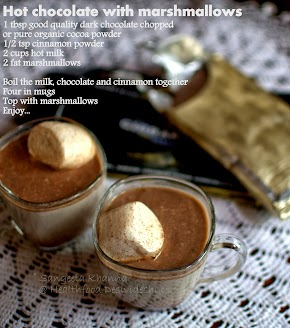 picture recipe | hot chocolate with cinnamon and marshmallows