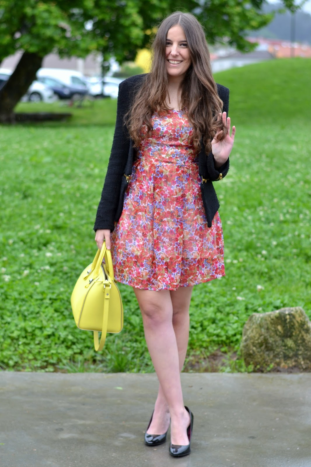 lefties floral print dress