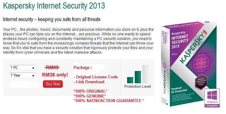 activation code for kaspersky antivirus 2013 for 1 year