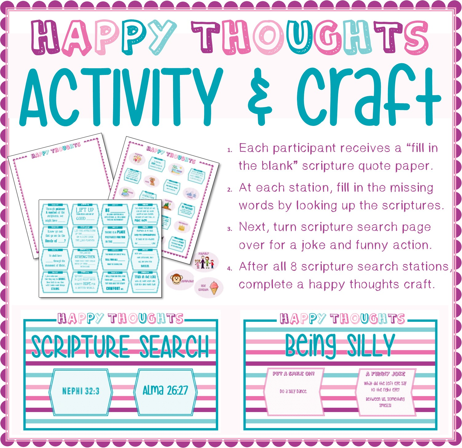 Happy Thoughts Activity & Craft