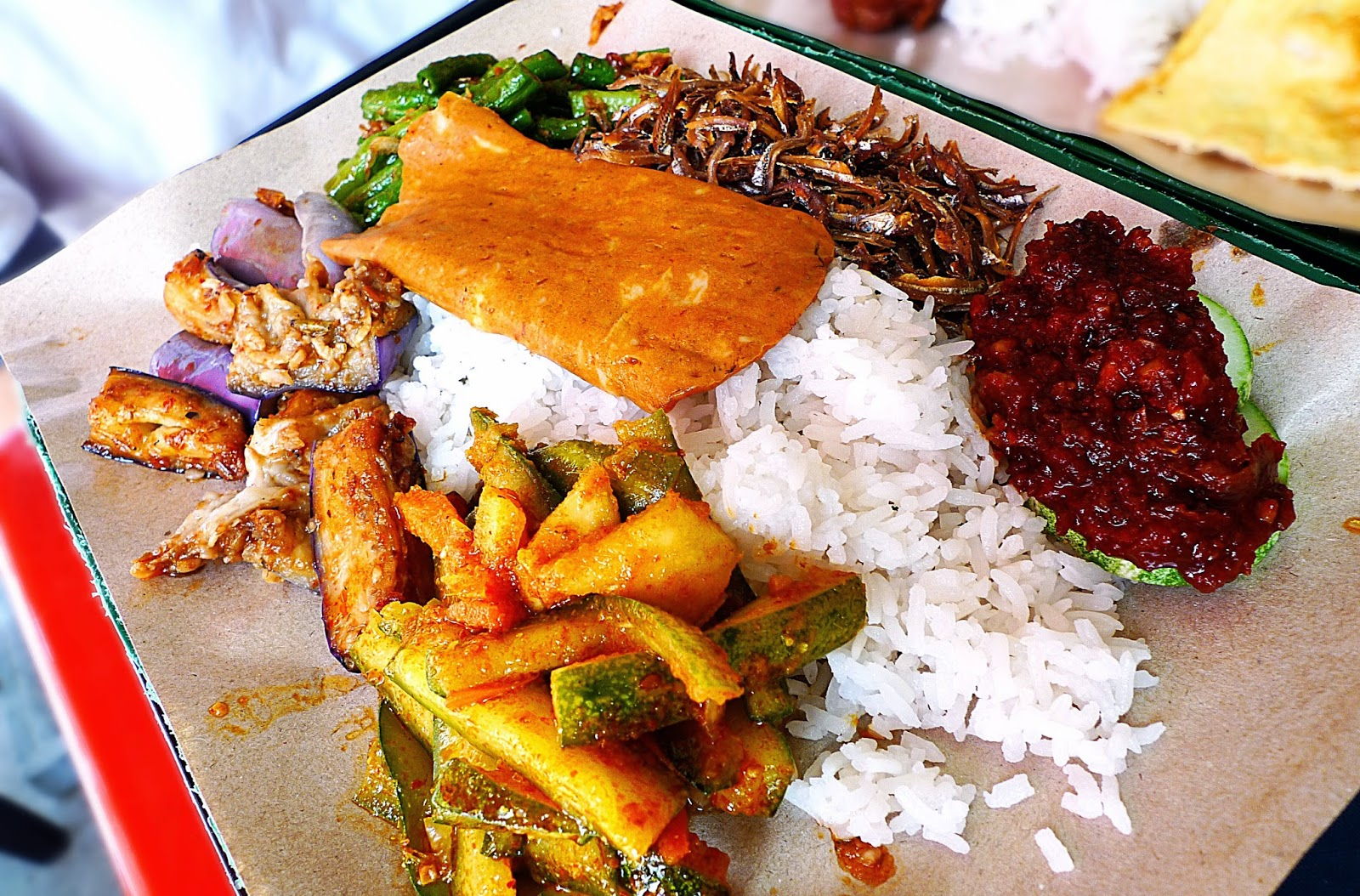 Customized nasi lemak
