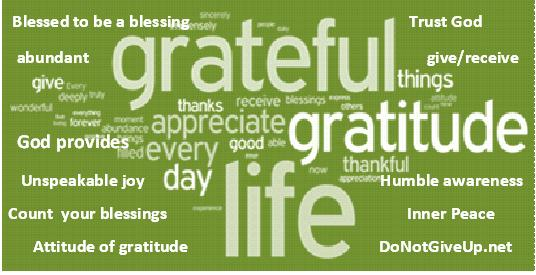 heart of gratitude to god
