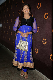 Indraja Latest Pictures in Blue Salwar Kameez at Dikkulu Chudaku Ramayya Audio Launch ~ Celebs Next