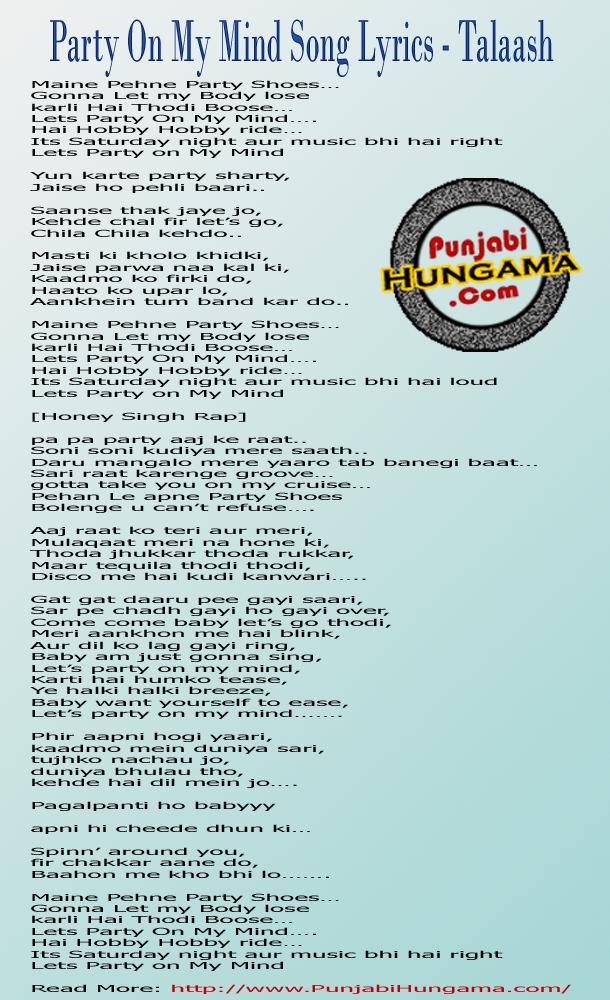 Party On My Mind Songs Lyrics