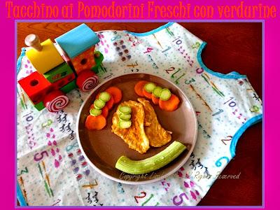 Fesa di Tacchino con Pomodorini Freschi e Verdurine – Ricetta per i bimbi