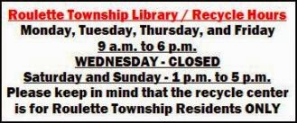 Roulette Township/Library/Recycling Hours