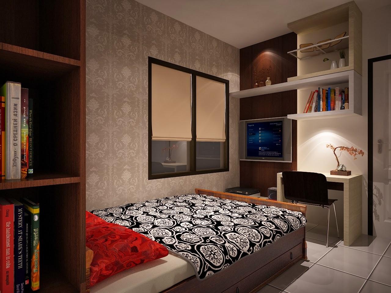 Desain interior apartemen silkwood residence 2 bedroom for Design interior apartemen 1 bedroom